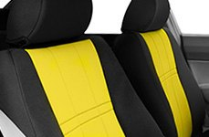 CalTrend® - NeoSupreme Black with Yellow Seat Covers