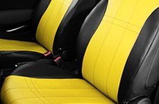 CalTrend® - DuraPlus Black and Yellow Seat Covers