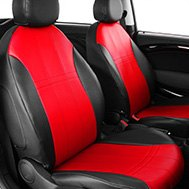 CalTrend® - DuraPlus Red/Black Custom Seat Covers