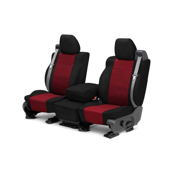 1st Row NeoSupreme Black With Red Custom Seat Covers