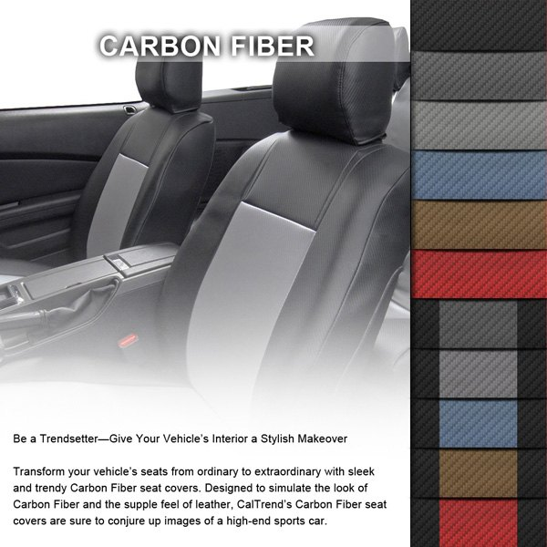 Caltrend Carbon Fiber Custom Seat Covers