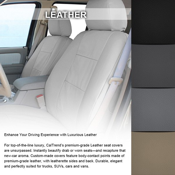 caltrend ford fusion 2013 2017 leather custom seat covers. Black Bedroom Furniture Sets. Home Design Ideas