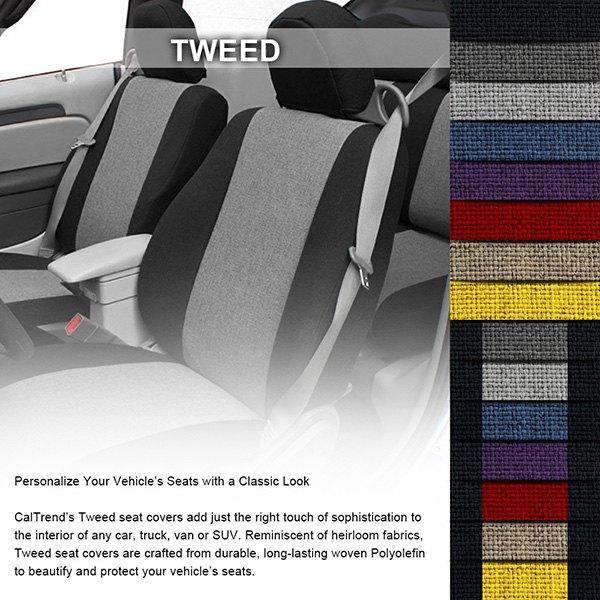 Caltrend Tweed Custom Seat Covers