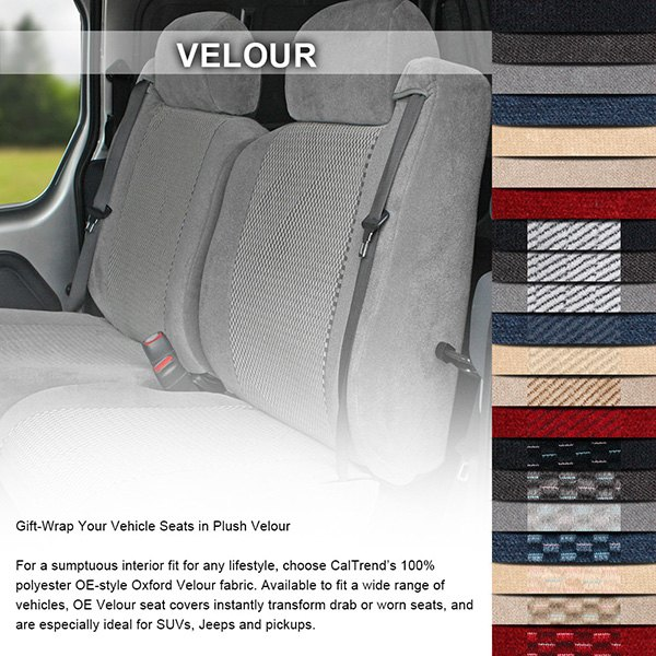 caltrend jeep liberty 2002 2004 o e velour custom seat covers. Black Bedroom Furniture Sets. Home Design Ideas