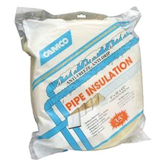 Camco 12660 fiberglass pipe insulation for Fiberglass insulation sizes