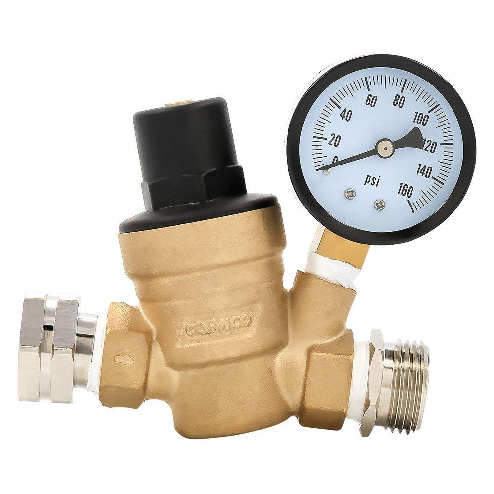 camco 40058 adjustable brass water pressure regulator. Black Bedroom Furniture Sets. Home Design Ideas