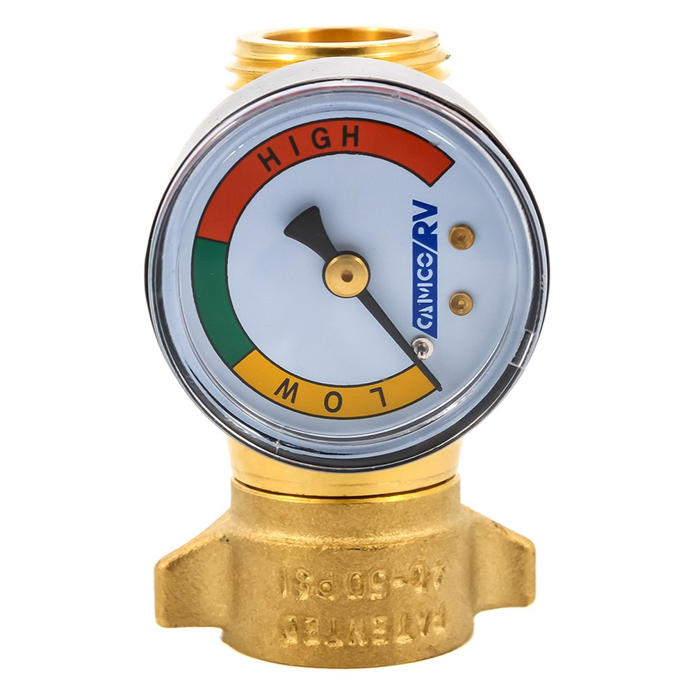 camco water with gauge pressure regulator ebay. Black Bedroom Furniture Sets. Home Design Ideas