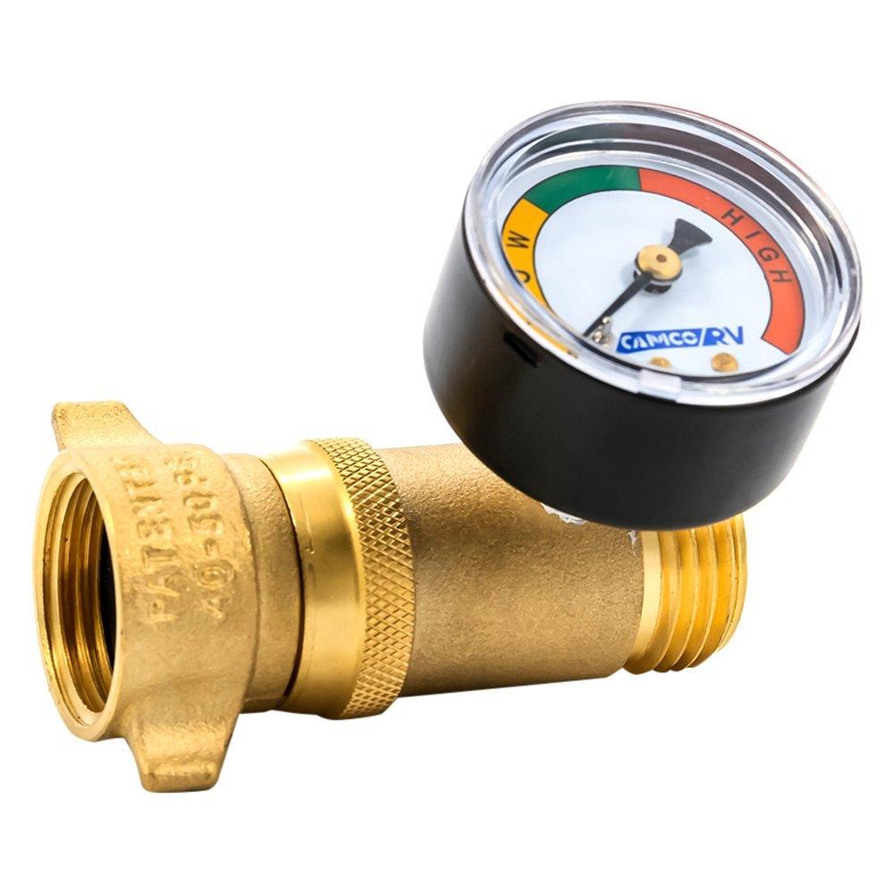 camco 40064 water with gauge pressure regulator. Black Bedroom Furniture Sets. Home Design Ideas