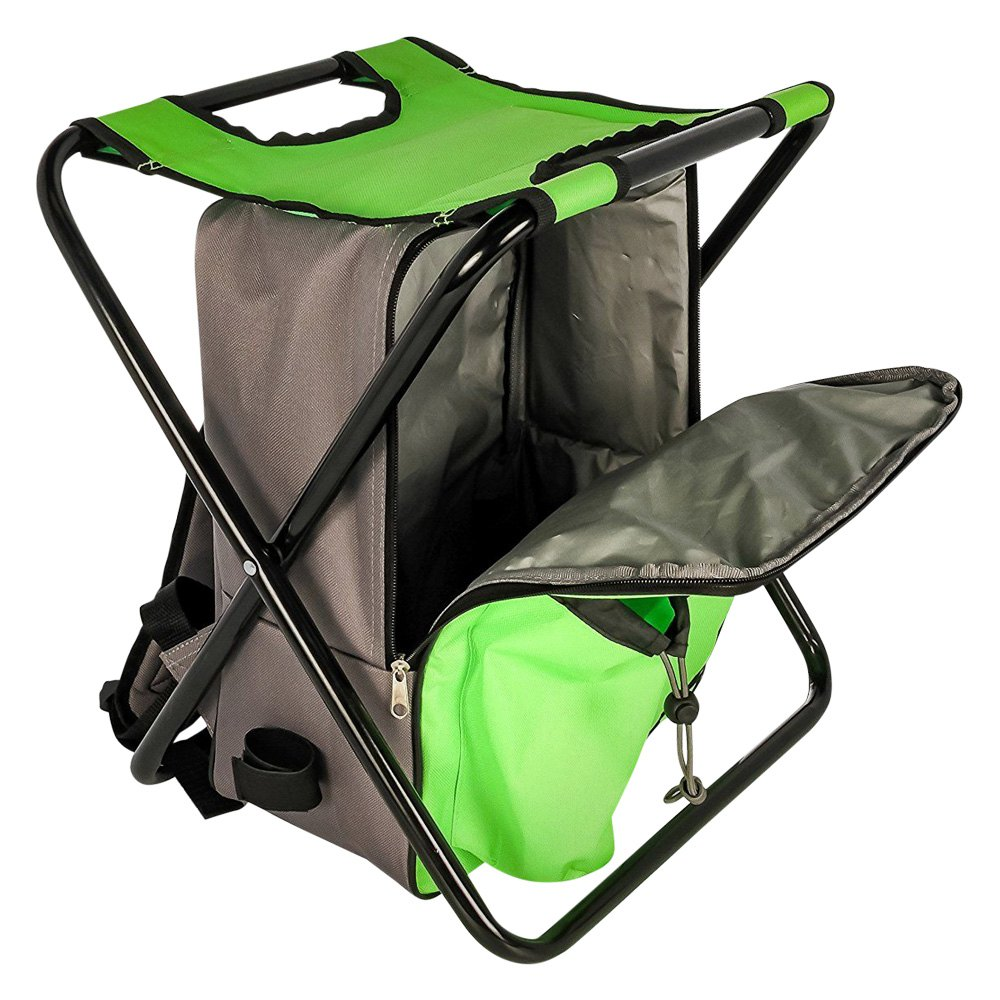 Camco 174 51909 Camp Green Stool Backpack Cooler