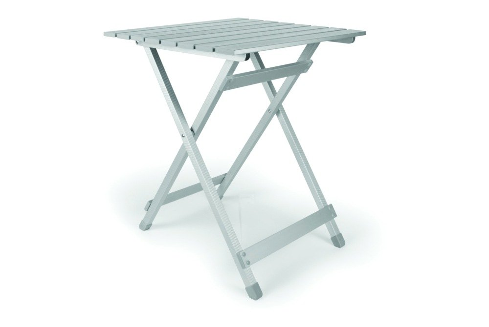 Camco 51891 table aluminum fold away side table small 19 5 x 19 top 23 7 tall - Fold away table ...