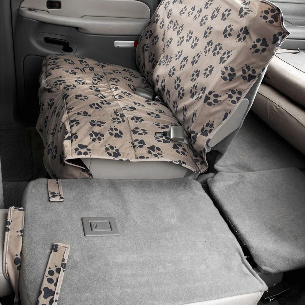 covers crypton paw print custom rear champagne seat protector. Cars Review. Best American Auto & Cars Review