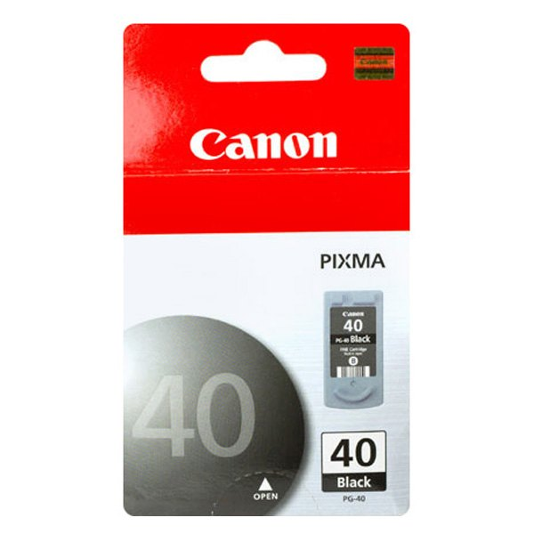 canon 0615b002 pg 40 black ink cartridge. Black Bedroom Furniture Sets. Home Design Ideas