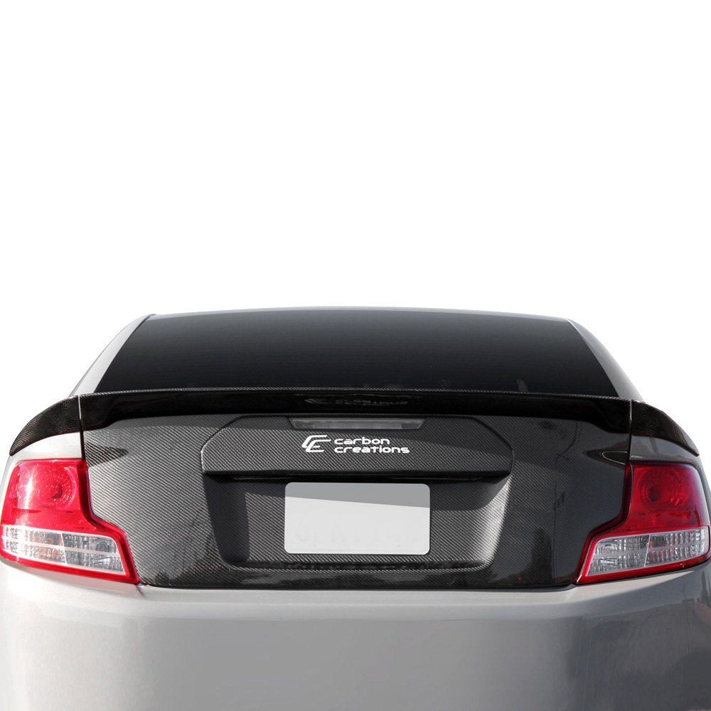 creations gt concept style carbon fiber lip trunk lid spoiler