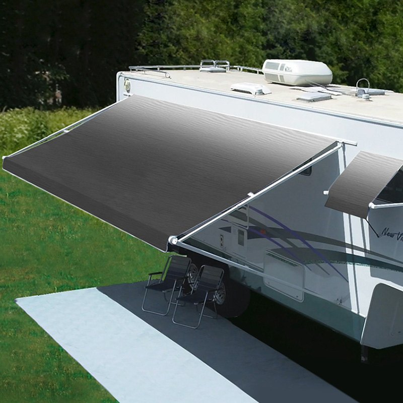 Patio Awning Freedom Manual 8'L x 6'Ext. Silver Vinyl ...