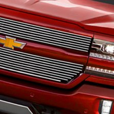 Carriage Works® - Billet Grille on Red Chevy Silverado