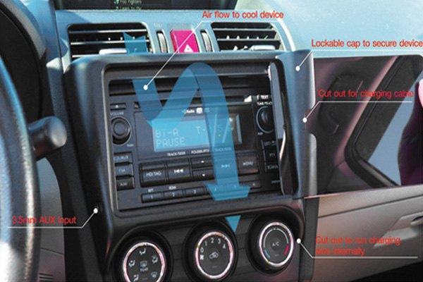 Carrichs® TDK602 - Ipad Mini Tablet Dash Kit