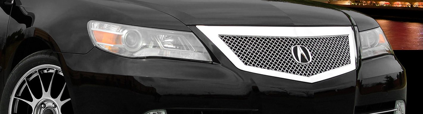 Acura RL Custom Grilles Billet Mesh CNC LED Chrome Black - 2006 acura rl grill