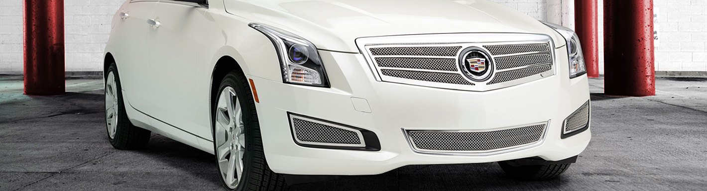 cadillac ats custom grilles billet mesh cnc led chrome black. Black Bedroom Furniture Sets. Home Design Ideas