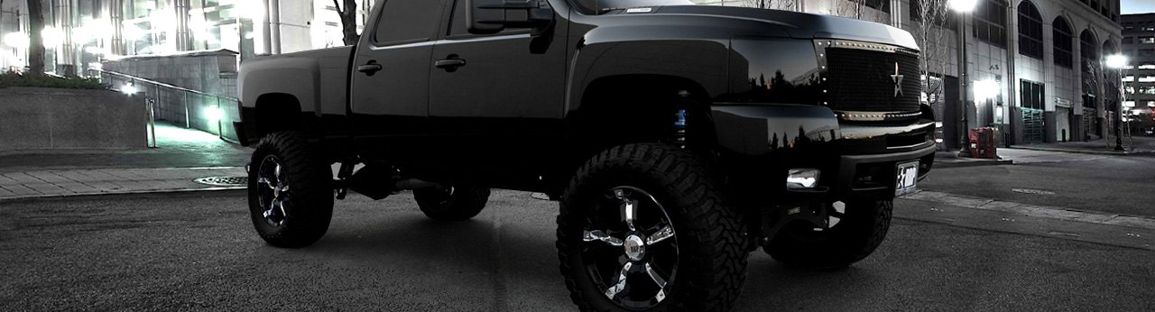 Chevy Silverado with Custom Rims