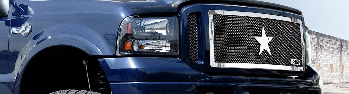 2006 Ford F 250 Custom Grilles Billet Mesh Led Chrome