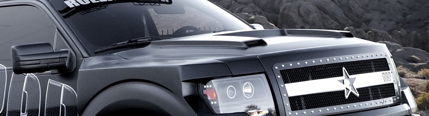 2013 ford f 150 custom hoods carbon fiber fiberglass - 2013 ford f 150 interior accessories ...