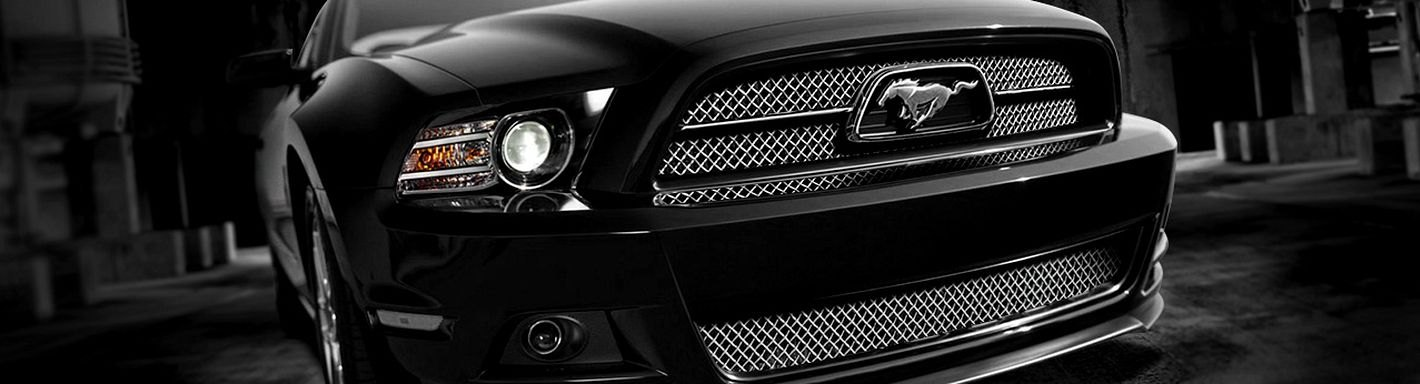 2013 Ford Mustang Custom Grilles Billet Mesh Led