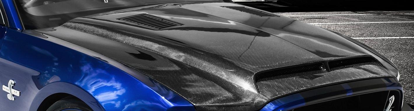 Ford Mustang Custom Hoods Carbon Fiber Fiberglass