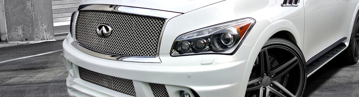 Infiniti Qx56 Custom Grilles Billet Mesh Cnc Led Chrome Black
