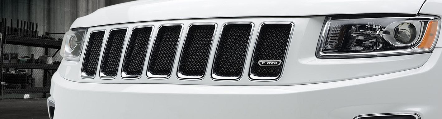 cherokee jeep grand custom grill grilles mesh chrome 2008 led carid