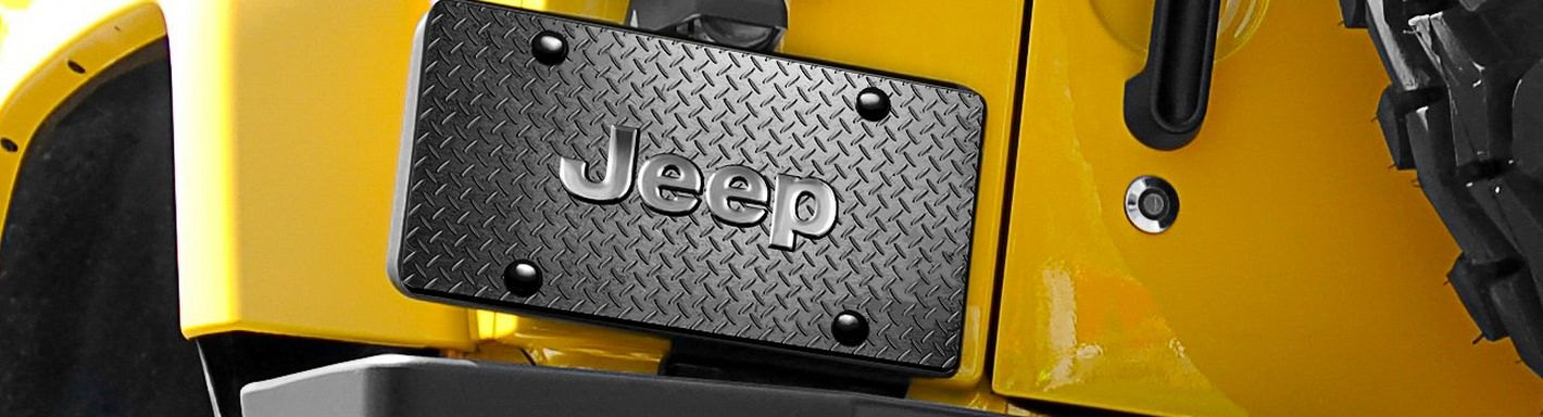 Jeep Custom License Plates & Frames | Logo, Billet, Crystals