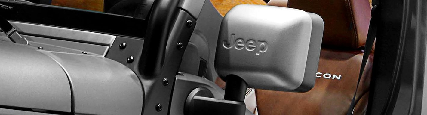 Jeep Side View Mirrors Custom Replacement Towing