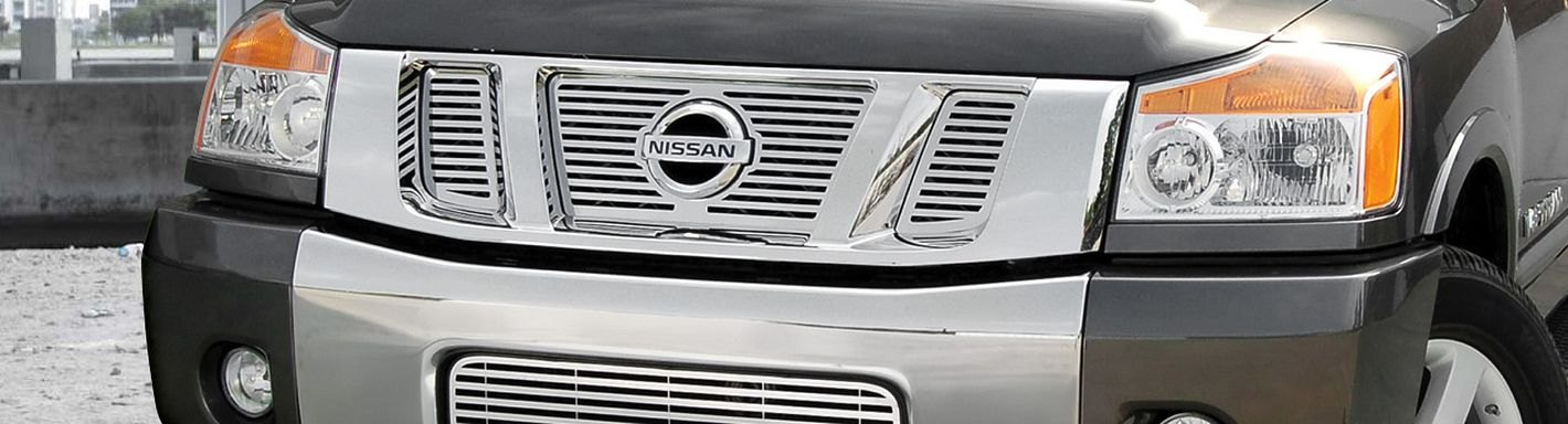 Nissan Titan Custom Grilles   Billet, Mesh, CNC, LED, Chrome