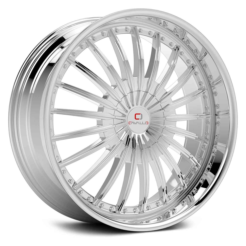 Cavallo Clv 32 Wheels 20x8 5 35 5x114 3 74 1 Chrome Rims Set Of 4 Ebay
