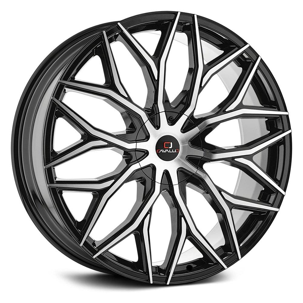 Cavallo Clv 37 Wheels 24x9 25 6x139 7 87 1 Black Rims Set Of 4 Ebay