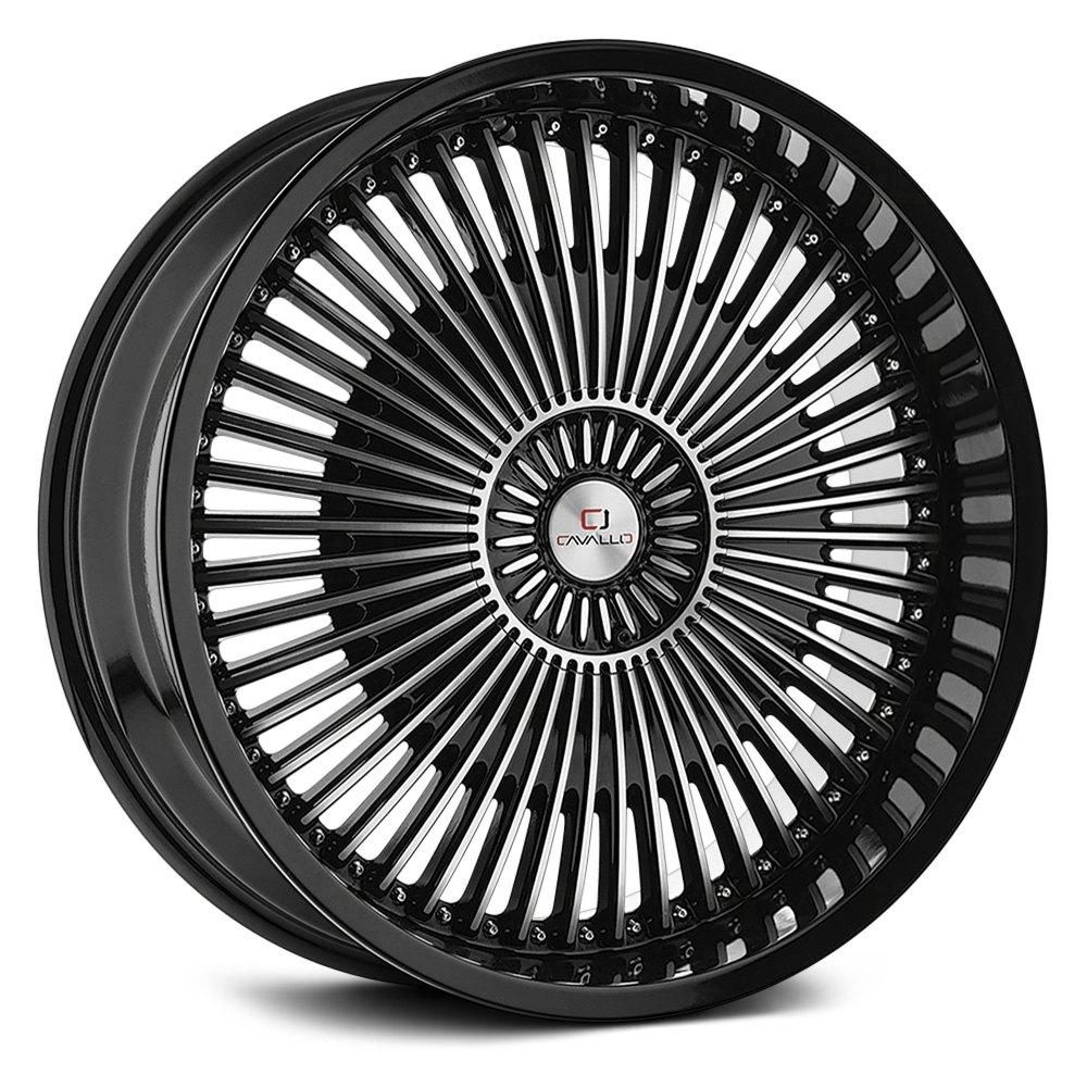 Cavallo Clv 41 Wheels 22x8 5 38 5x114 3 74 1 Black Rims Set Of 4 Ebay