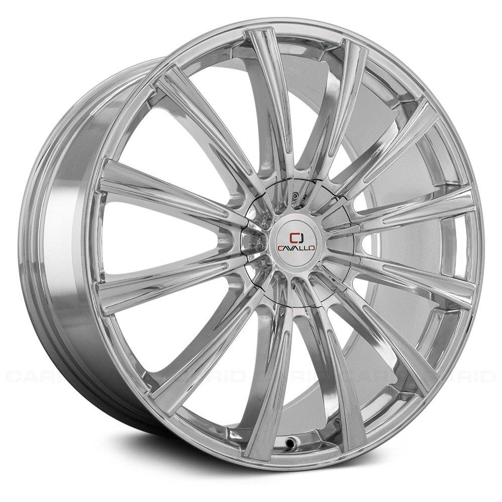 Cavallo Clv 23 Wheels 24x9 25 6x139 7 87 1 Chrome Rims Set Of 4 Ebay
