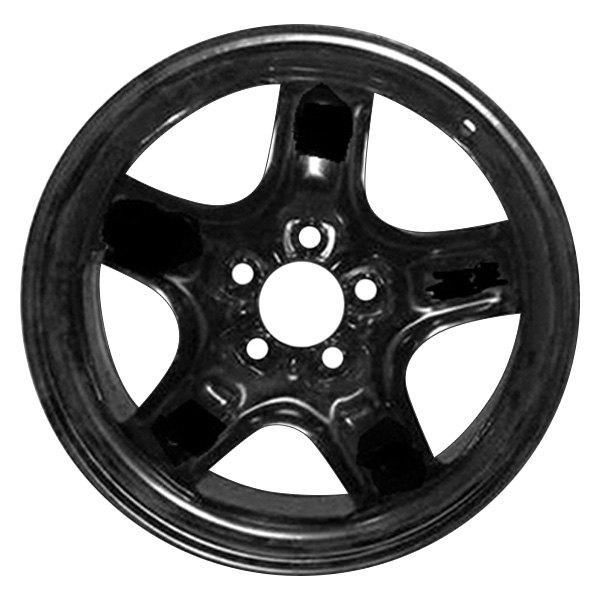 cci stl03796u45n 17 replica 5 spokes black factory steel wheel. Black Bedroom Furniture Sets. Home Design Ideas