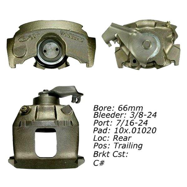 Disc Brake Caliper Rear Right Centric 141.61501 Reman