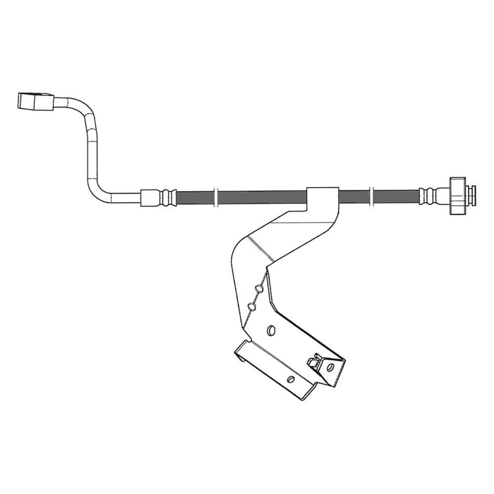 Pro Braking PBR5534-TRD-BLA Rear Braided Brake Line Transparent Red Hose /& Stainless Black Banjos