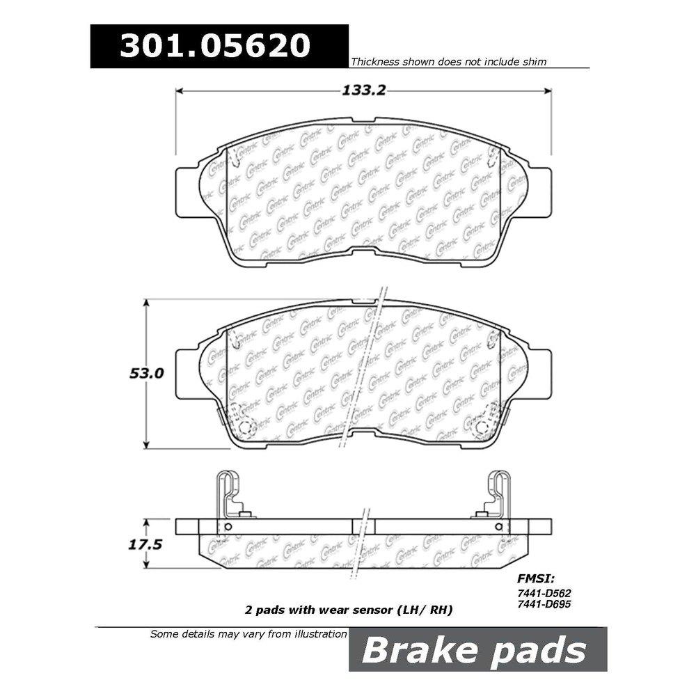 1999 Toyota Camry Brake Pads: Toyota Camry 1997-1999 Premium Ceramic Brake Pads