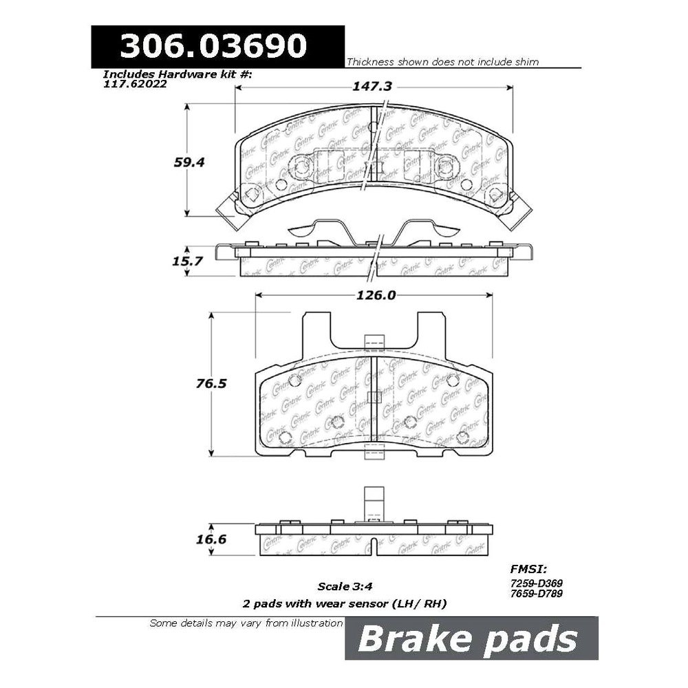 Centric chevy tahoe 1998 1999 fleet performance organic front brake pads for 1998 chevy tahoe interior parts