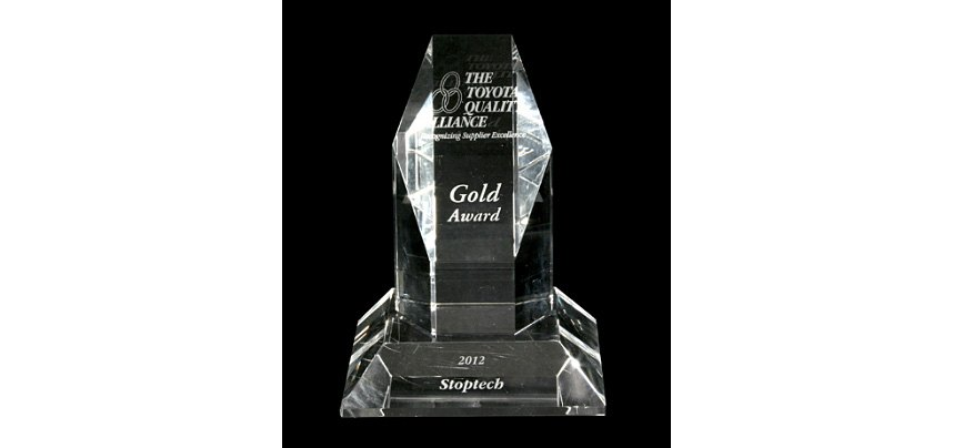 Toyota - Quality Alliance Supplier Gold Award for StopTech