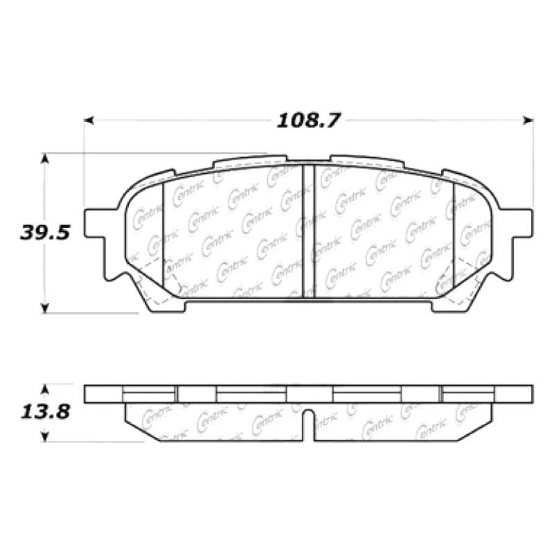 New Centric 2-wheel set Brake Pad Rear For Subaru Impreza Forester 102.10040