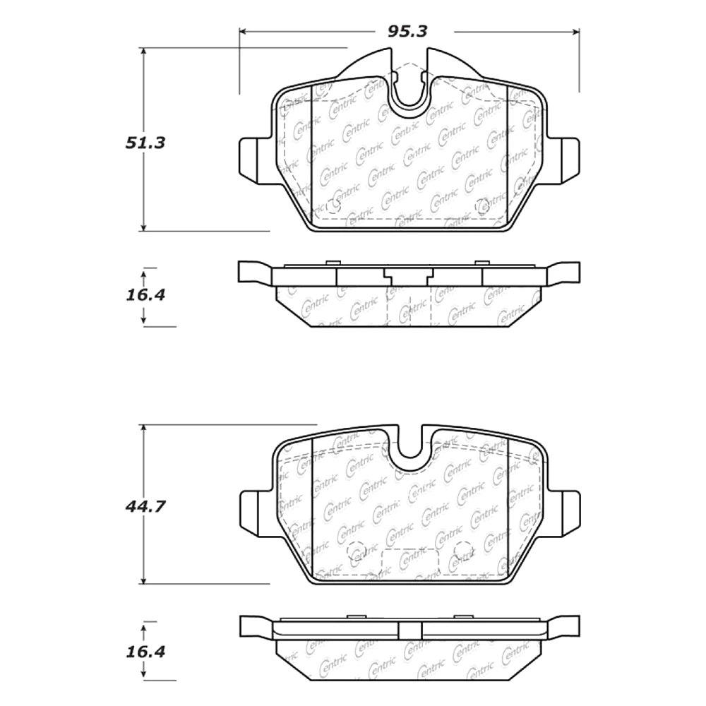 Disc Brake Pad Set-C-TEK Metallic Brake Pads Rear Centric 102.12260