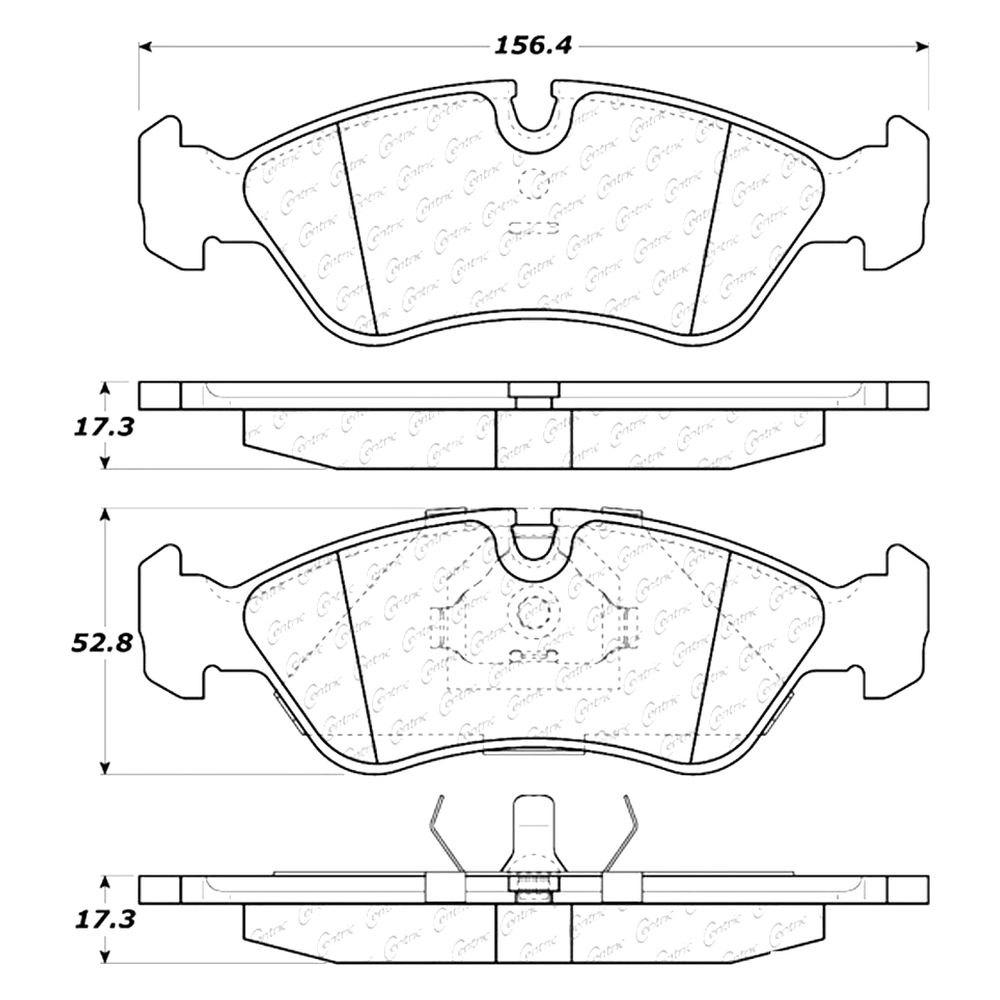 For Daewoo Lanos 99-02 Posi Quiet Premium Semi-Metallic Front Disc Brake  Pads