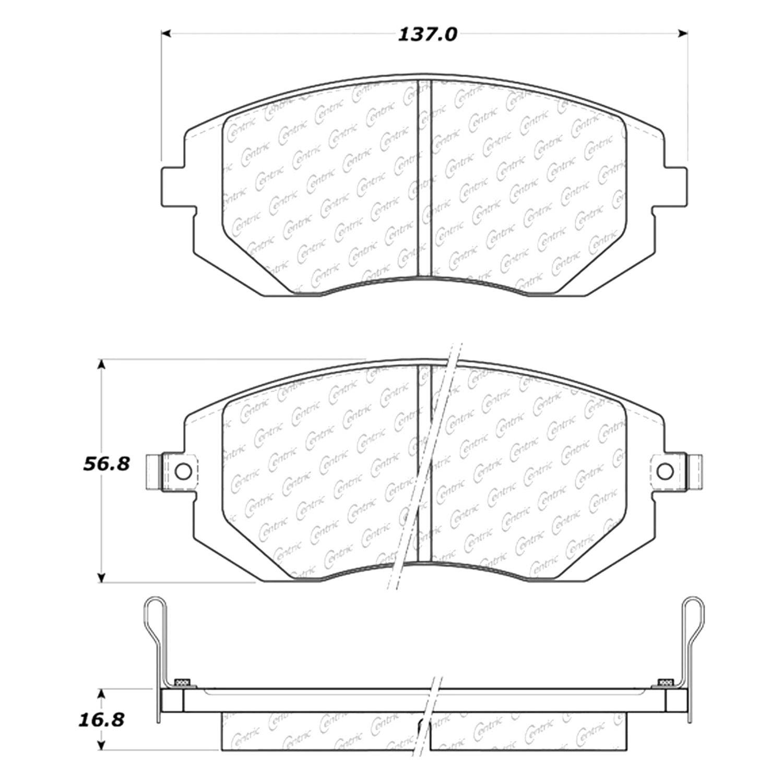 centric 105 09290 posi quiet premium ceramic front disc brake pads rh carid com Brake Caliper Diagram Brake System Diagram