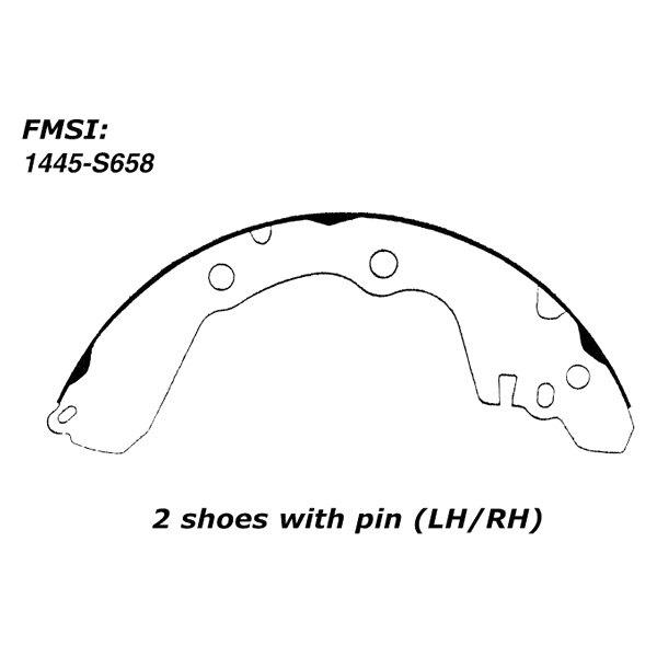 Centric 110.06580 Drum Brake Shoe