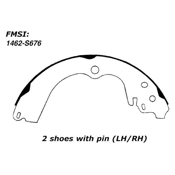Drum Brake Shoe-C-TEK Brake Shoes Rear Centric 110.06760