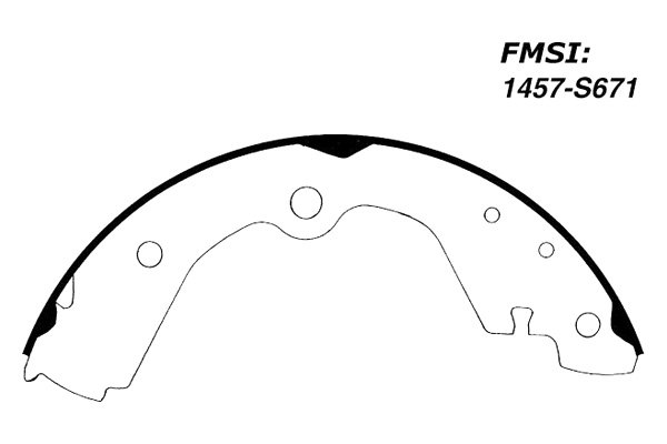 REAR Bonded Drum Brake Shoe Fits 93-98 Nissan Altima
