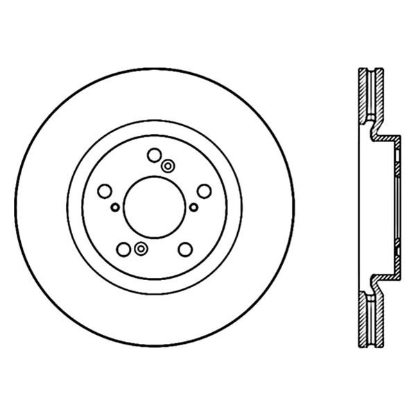 Centric 120.40075 Front Disc Brake Rotor